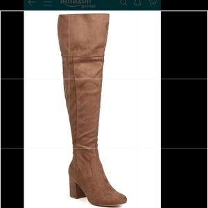 Wild Diva - Faux Suede Over The Knee Boot size 7